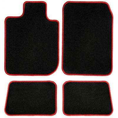 Ford Explorer Red Oriental Car Mats, Custom Fit for 2015 to 2019 - Driver, Passenger and Rear Carpet Car Mats