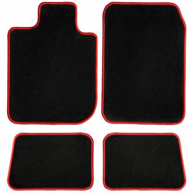 GGBAILEY D4176A-S1A-BLK/_BR Custom Fit Automotive Carpet Floor Mats for 1998 Passenger /& Rear 1999 2000 Volvo S70 Black with Red Edging Driver