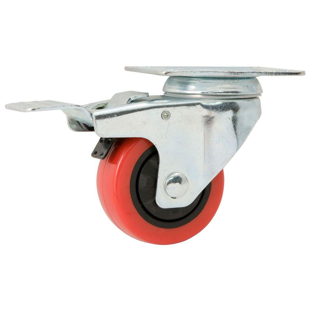 Everbilt 3 In Polyurethane Swivel Caster With Brake 4120545eb