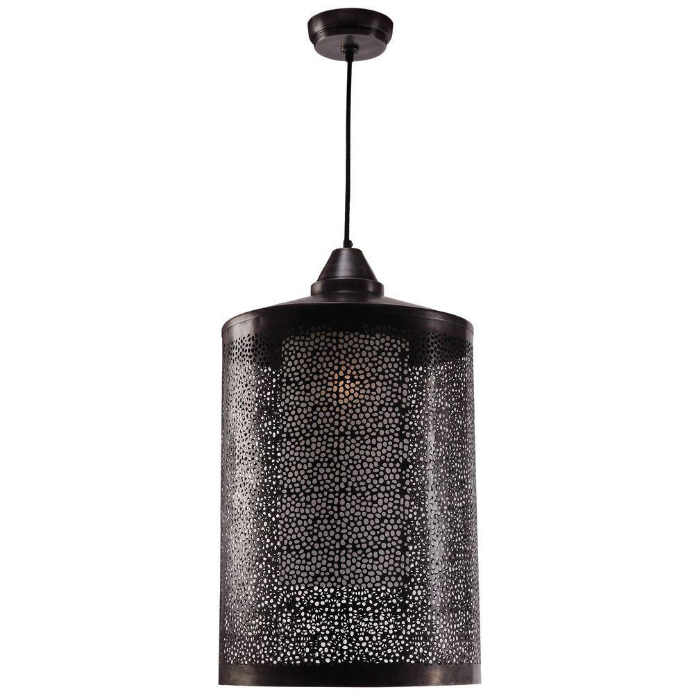 Kenroy Home Sorcerer 1-Light Black Zinc Metal Pendant
