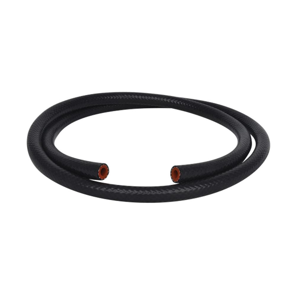 Silicon Heater Hose reinforced 8mm I.D Black x 5 ft Vibrant 5//16in