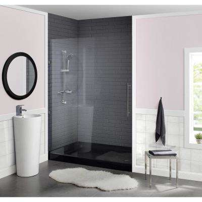 Voltaire 60 in. x 36 in. Acrylic Single-Threshold Right Drain Shower Base in Black