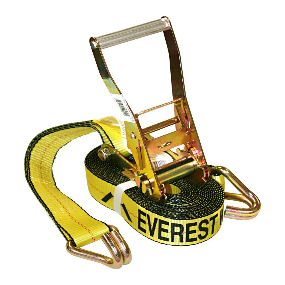 EVEREST 2 in. x 27 ft. Heavy-Duty Ratchet Tie-Down Trailer Strap (10,000 lbs.)