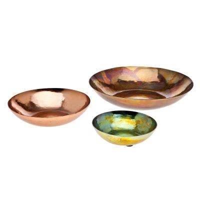 Copper Blue/Yello Plates (Set of 3)