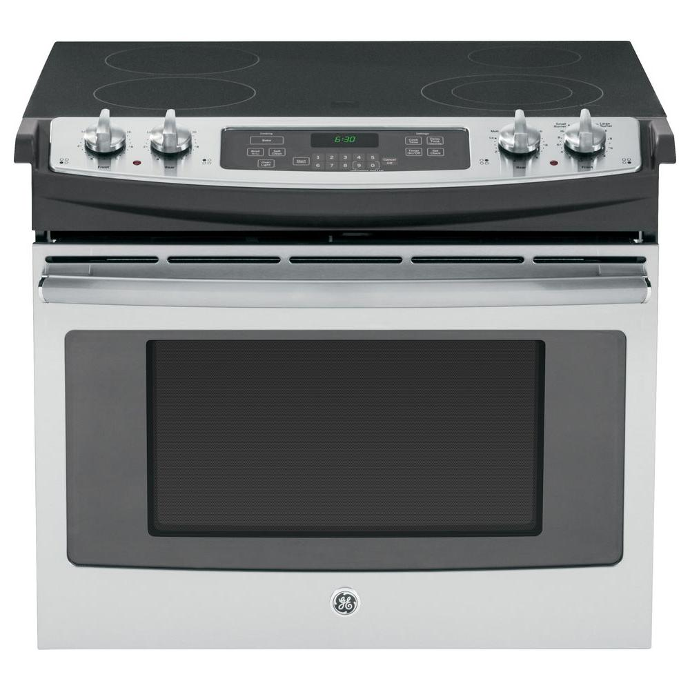 Ge 4 Cu Ft Drop In Electric Range With Self Cleaning Oven