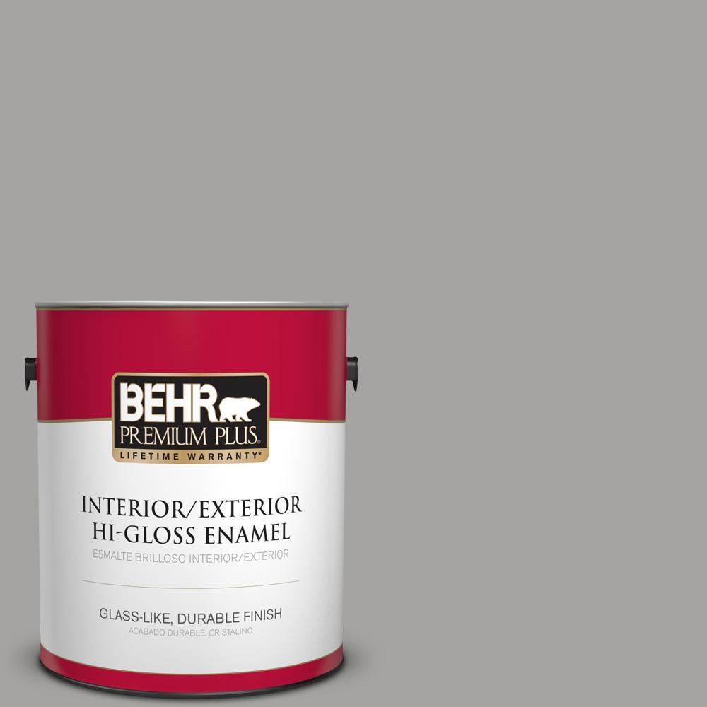1 gal. #PPU26-07 Smokey Wings Hi-Gloss Enamel Interior/Exterior Paint