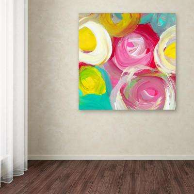 """24 in. x 24 in. """"Rose Garden Circles Square 2"""" by Amy Vangsgard Printed Canvas Wall Art"""