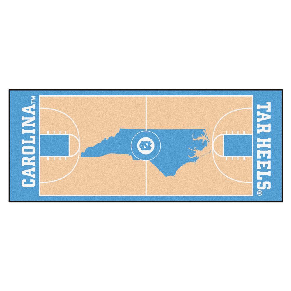 University of North Carolina Chapel Hill 3 ft. x 6 ft. Basketball Court Rug Runner Rug