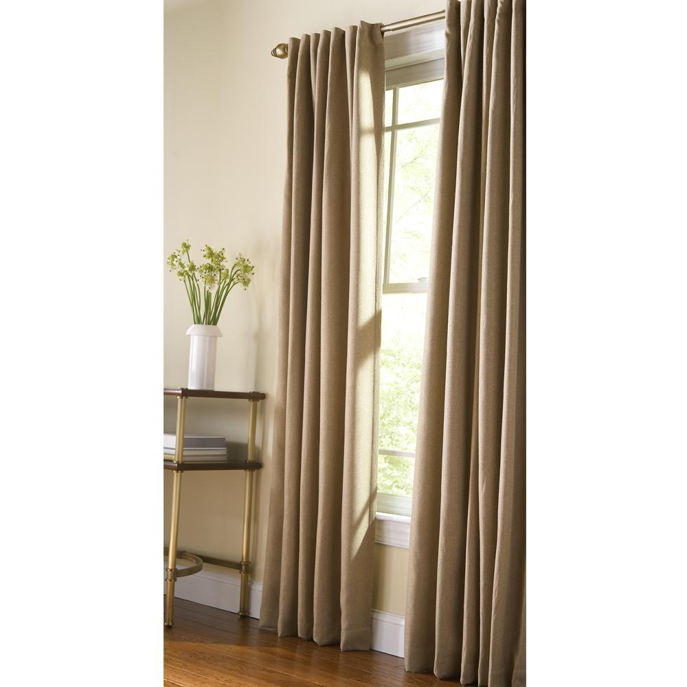 Martha Stewart Living Thermal Tweed Room Darkening Window Panel In