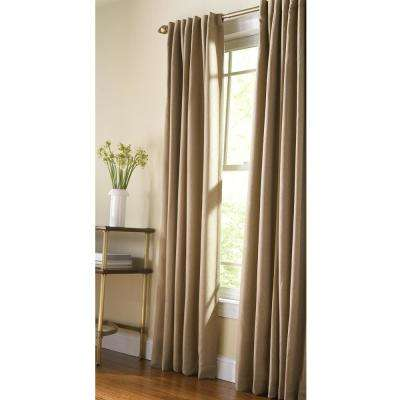 Thermal Tweed Room Darkening Window Panel in Monks Cloth - 50 in. W x 95 in. L