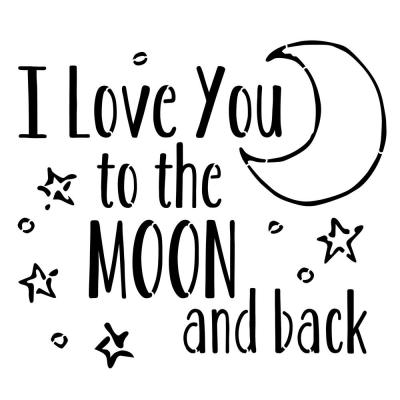Designer Stencils I Love You To The Moon And Back Stencil Fs057 Home Depot