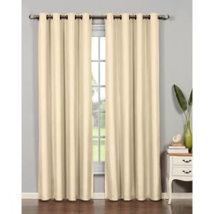 Bella Luna Semi-Opaque Emma Microfiber Extra Wide 84 inch L Room Darkening Grommet Curtain... by Bella Luna