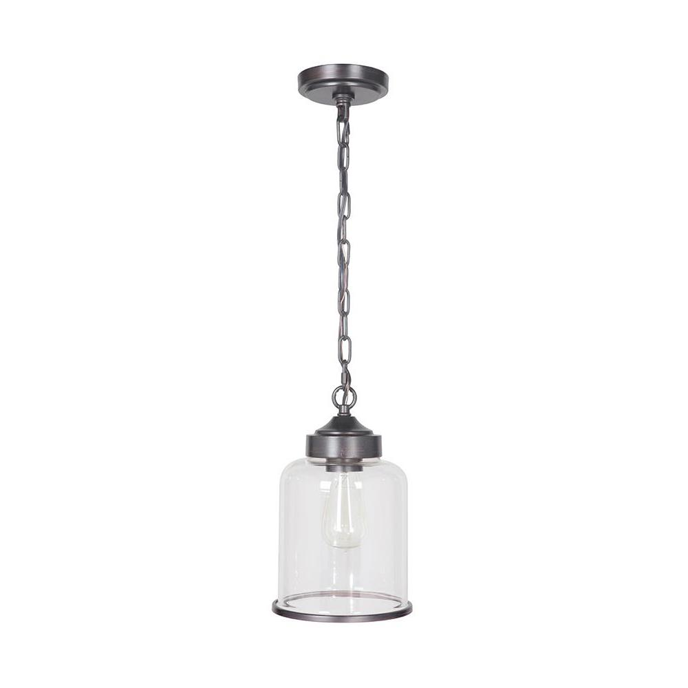 Home Decorators Collection Brunswick 1-Light Bronze Hardwire Pendant