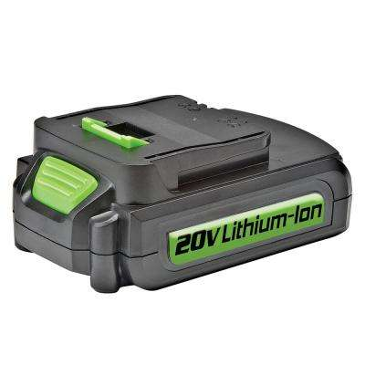 20-Volt High Performance Lithium-Ion Rechargeable Battery Pack Replacement