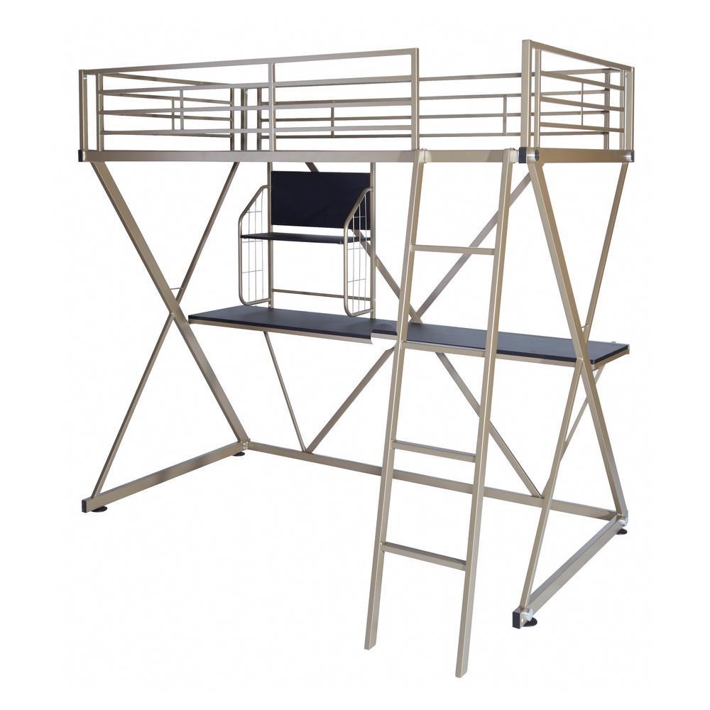 Reyer Pewter Twin Loft Bed