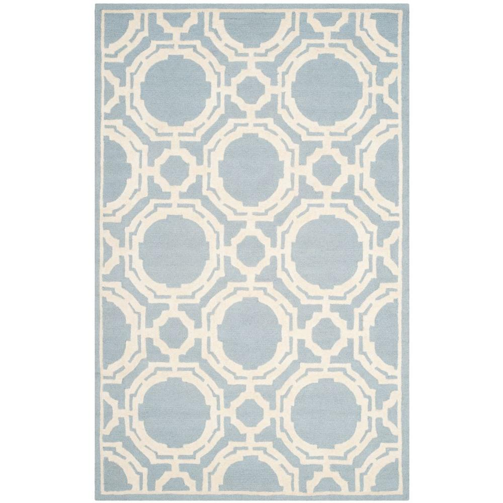 Cambridge Blue/Ivory 5 ft. x 8 ft. Area Rug