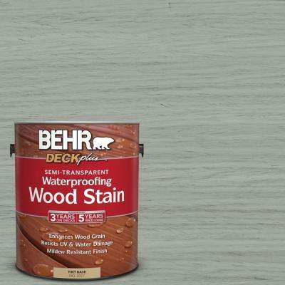 1 gal. #ST-149 Light Lead Semi-Transparent Waterproofing Wood Stain