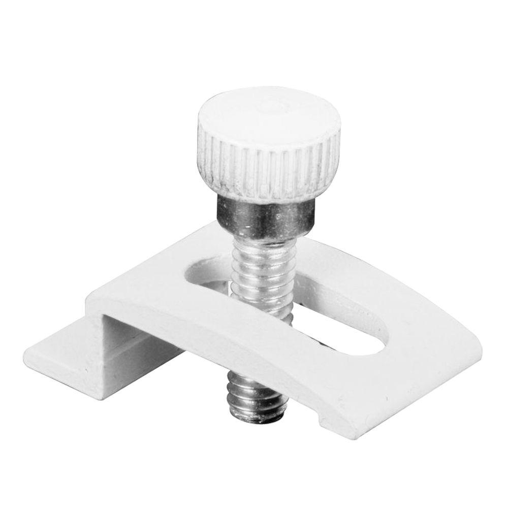 1/4 in. White Aluminum Storm Door Clips