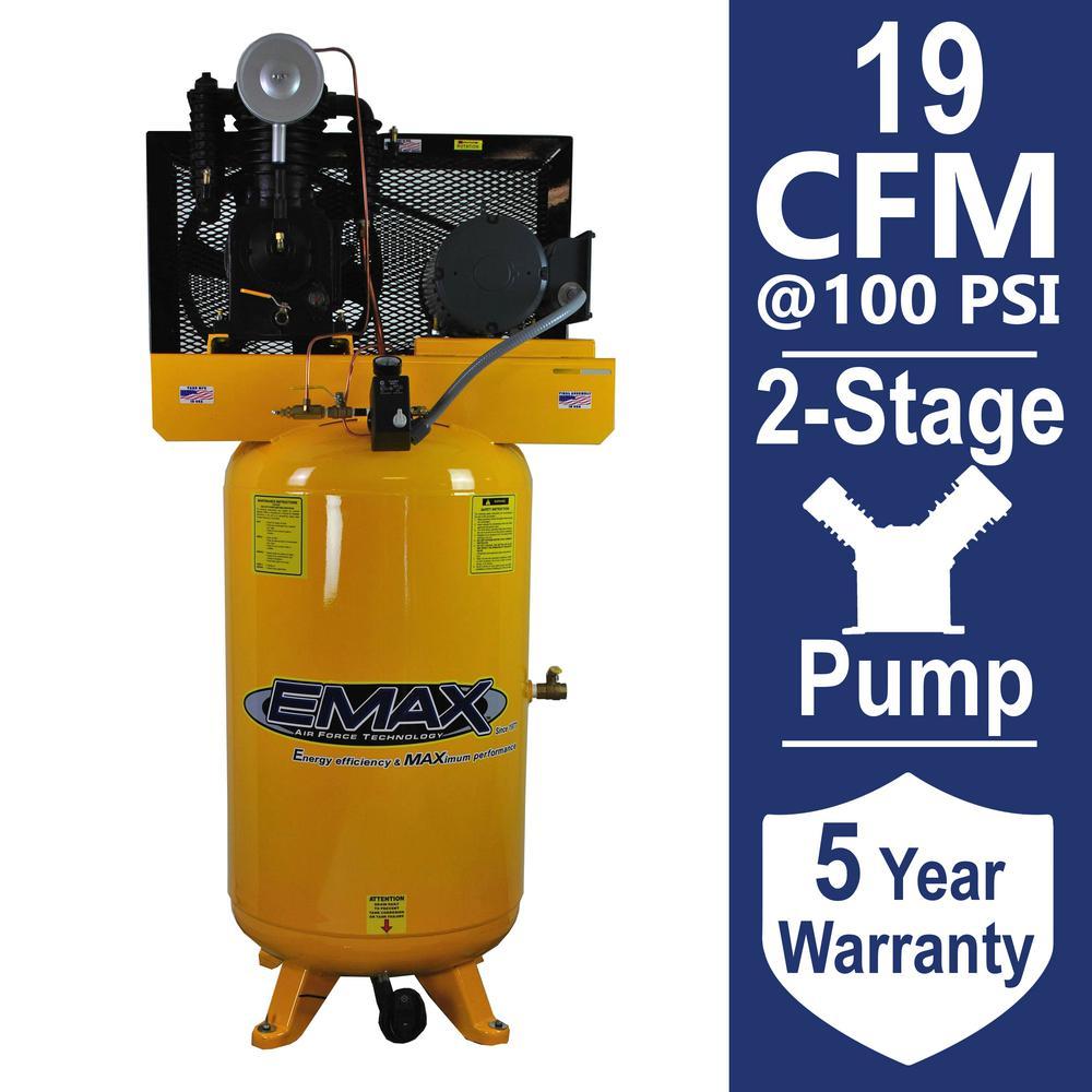 Industrial PLUS Series 80 Gal. 5 HP 1-Phase Vertical Electric Air Compressor