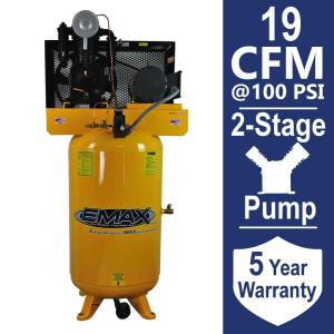EMAX Industrial PLUS Series 80 Gal. 5 HP 1-Phase Vertical Electric Air Compressor by EMAX