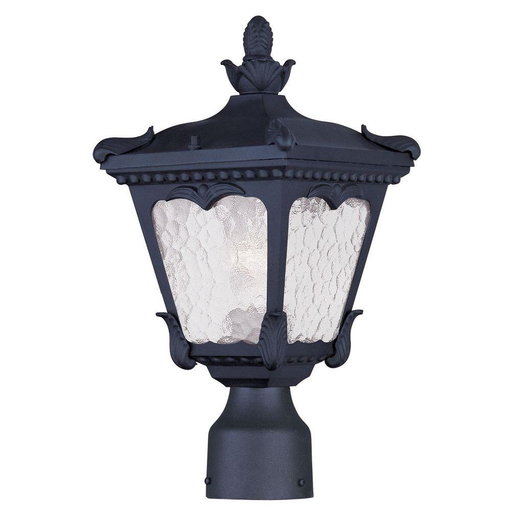 Livex Lighting Providence 6 in. Outdoor Black Post Head Lantern