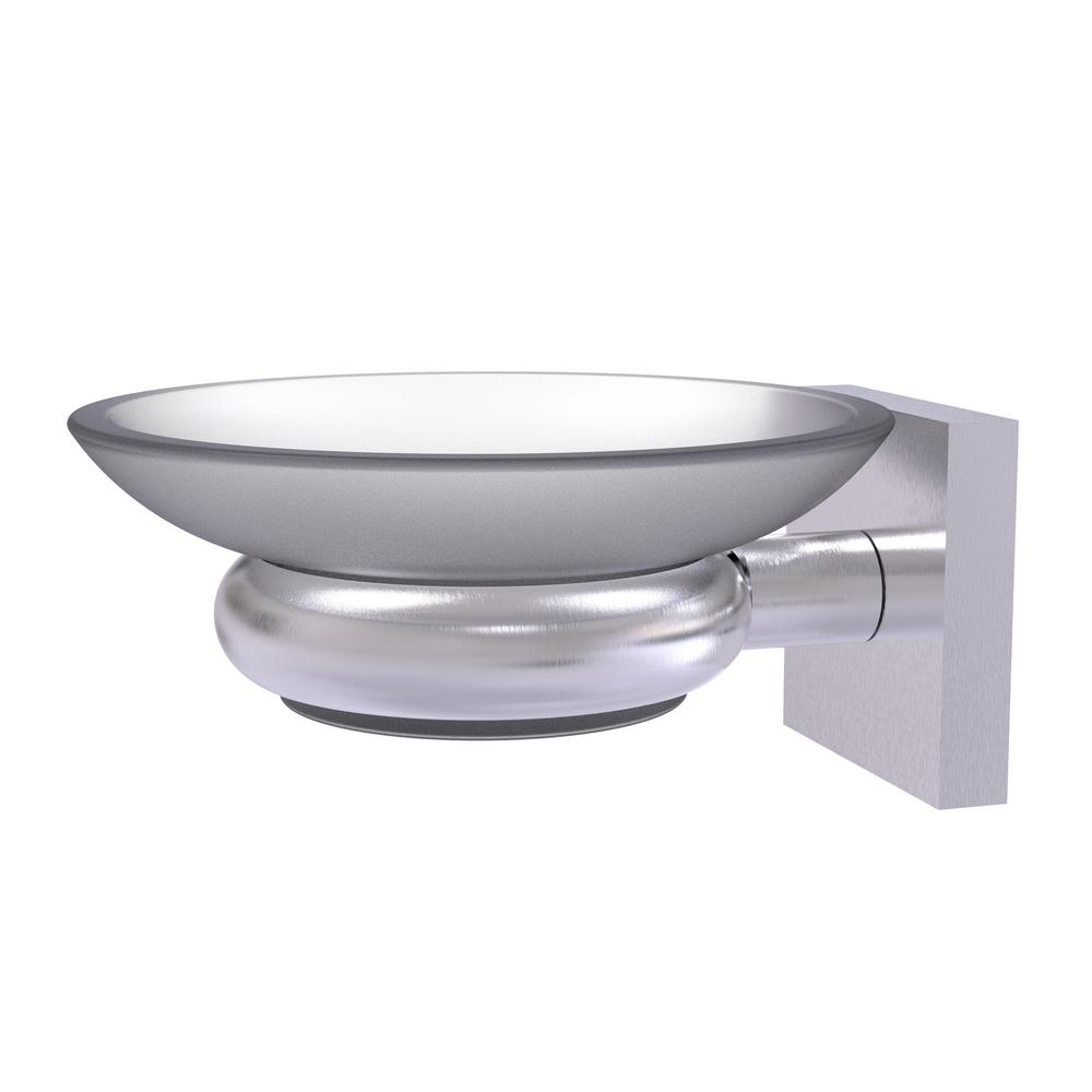 Allied Brass Montero Collection Wall Mounted Soap Dish in Satin Chrome