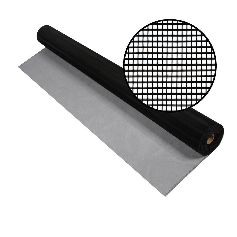 72 in. x 100 ft. Black Aluminum Screen (Tube)