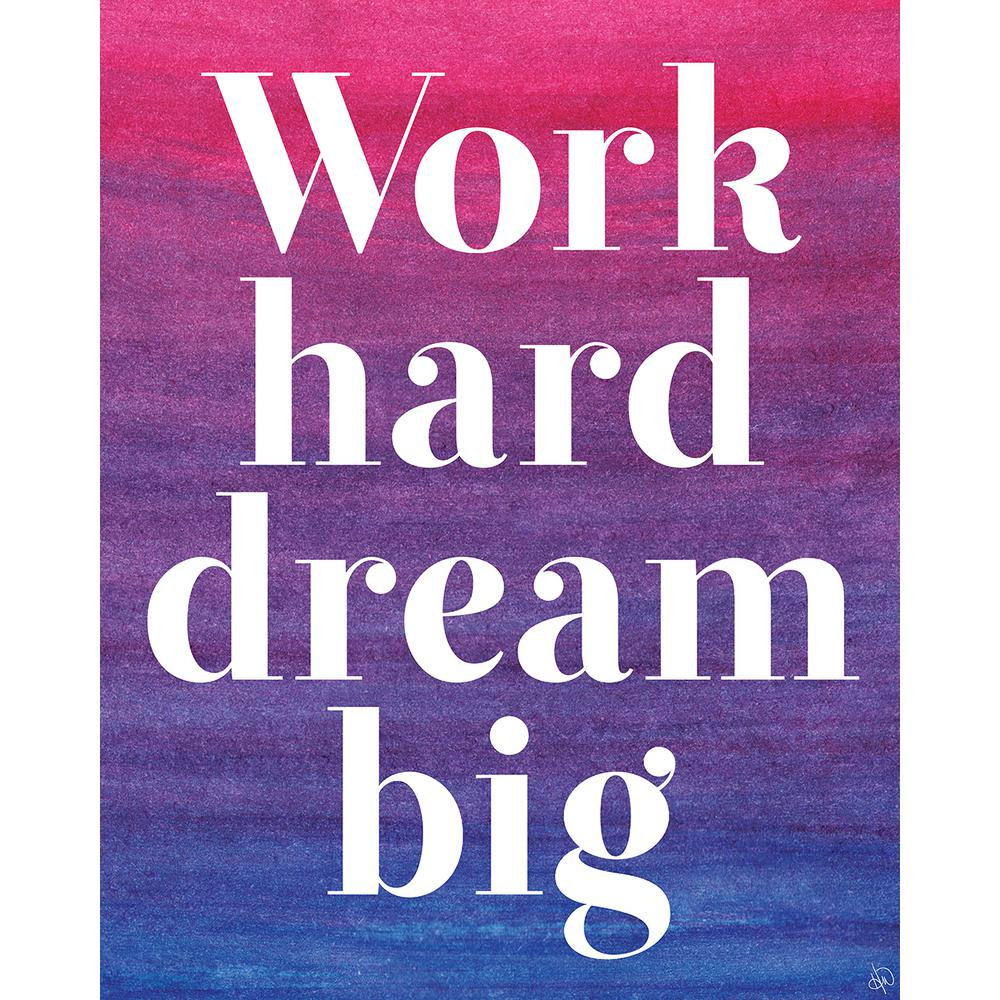 "16 in. x 20 in. ""Dream Big"" Wrapped Canvas Wall Art"