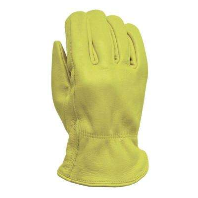 Large Winter Grain Pigskin Work Gloves