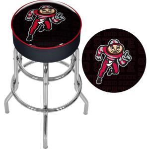 Prime Ohio State Brutus Dash 31 In Chrome Padded Swivel Bar Stool Alphanode Cool Chair Designs And Ideas Alphanodeonline