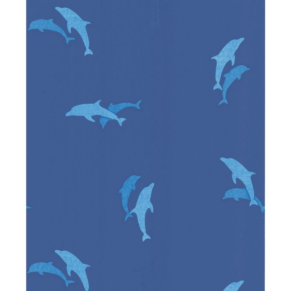 Dark Blue Dolphins Wallpaper Sample