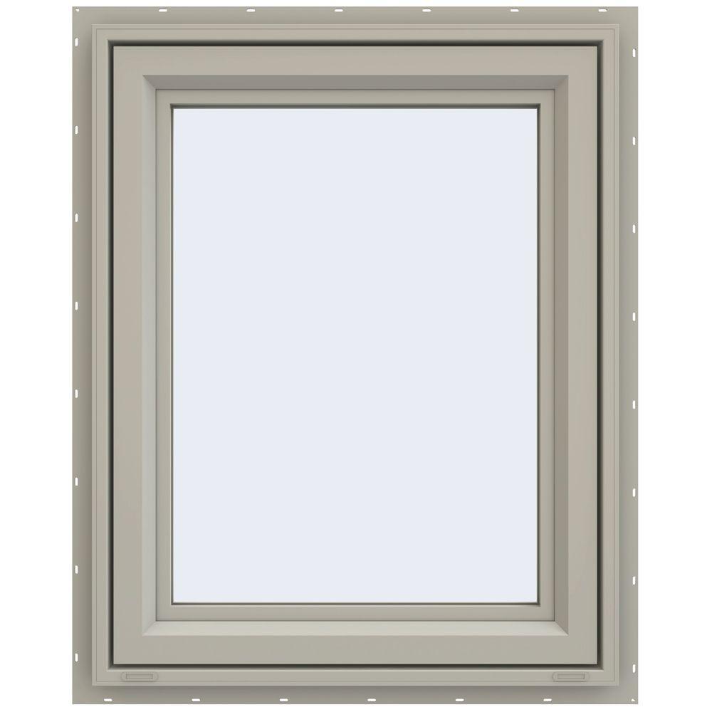 JELD-WEN 29.5 in. x 35.5 in. V-4500 Series Right-Hand Casement Vinyl Window - Tan