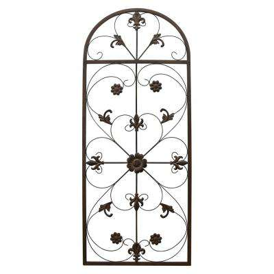 57 in. Metal Scroll Wall Art