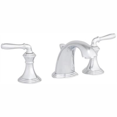 Devonshire 8 in. Widespread 2-Handle Low-Arc Bathroom Faucet in Polished Chrome