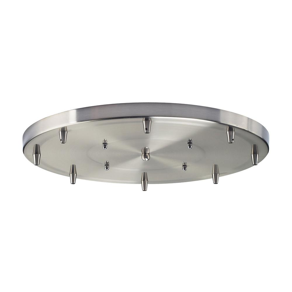 An Lighting Illuminare Accessories 18 In 8 Light Round Satin Nickel Ceiling Pan