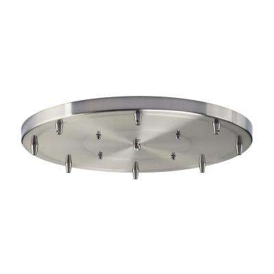 Illuminare Accessories 18 in. 8-Light Round Satin Nickel Ceiling Pan