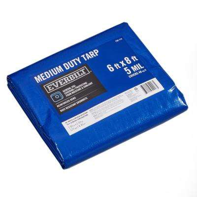 6 ft. x 8 ft. Blue Medium Duty Tarp