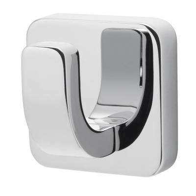 Kubos Single Robe Hook in Polished Chrome