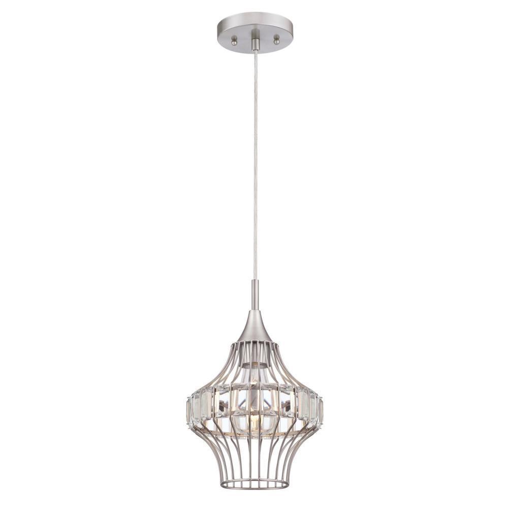 Westinghouse 1-Light Brushed Nickel Mini Pendant