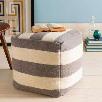 Flavienne Medium Gray Accent Pouf