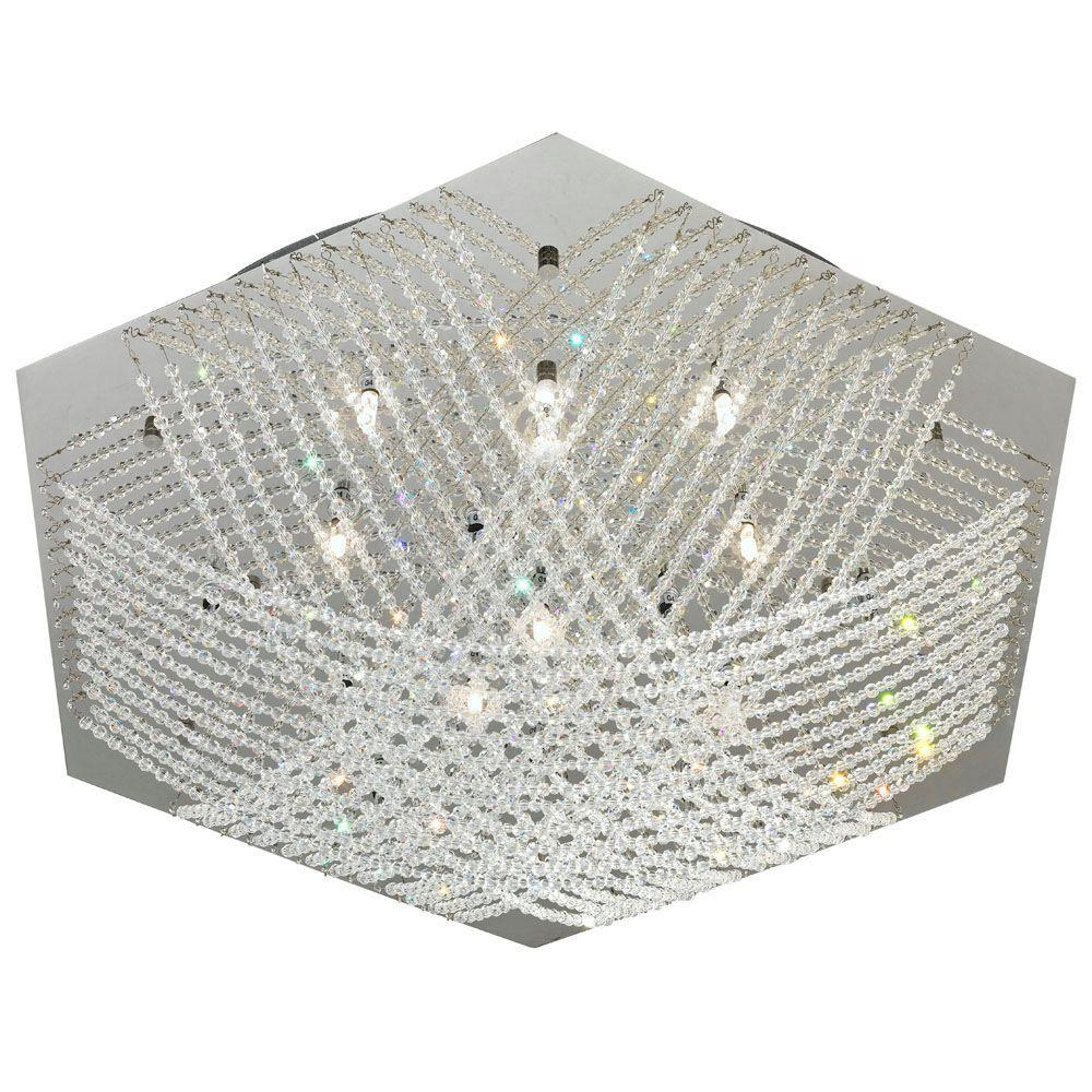 Eglo Lerida 7-Light 10-Watt Ceiling Chrome Light