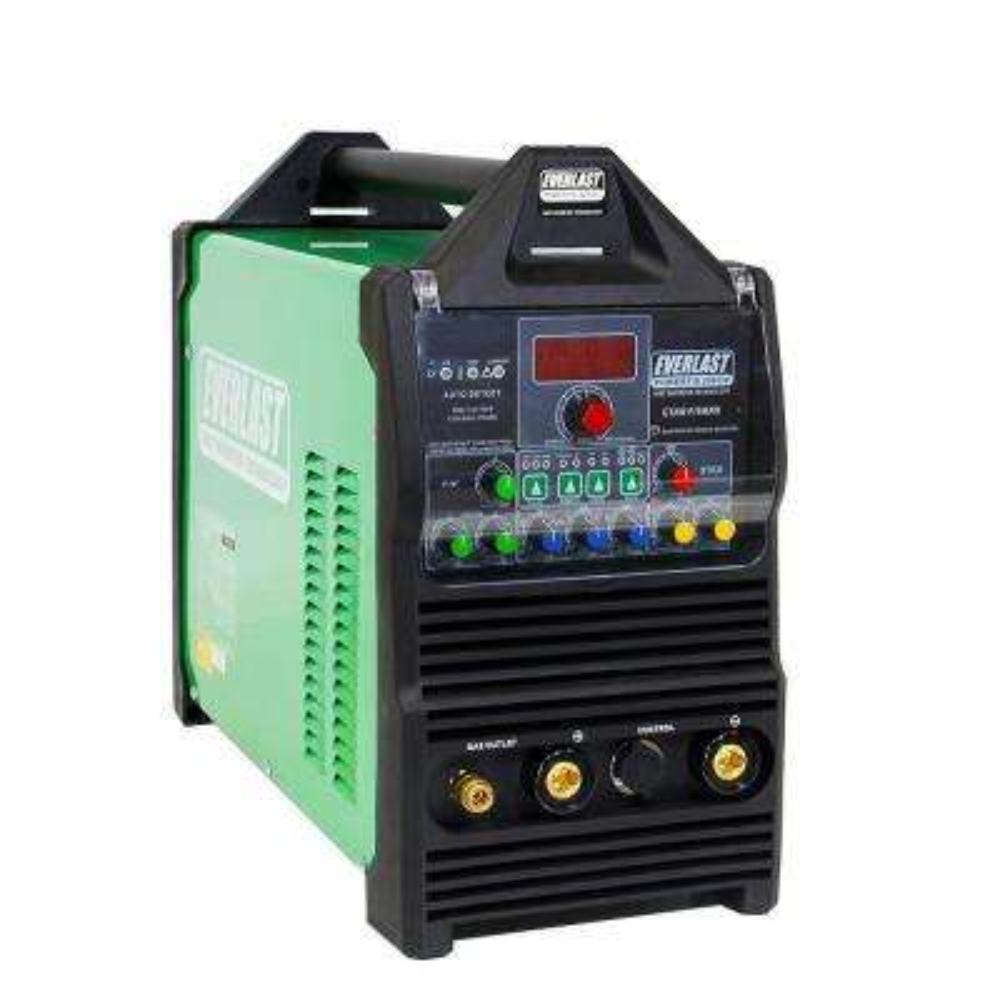 200 Amp PowerTIG 200DV IGBT Digital Inverter AC/DC Stick/TIG Welder with High Frequency and Lift TIG Start, 120V/240V
