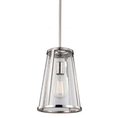 Harrow 1-Light Polished Nickel Mini Pendant