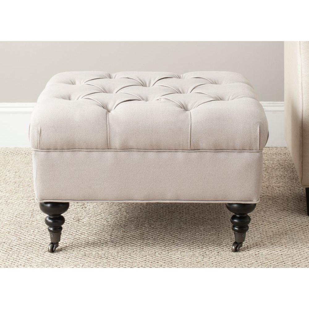 Angeline Taupe Accent Ottoman