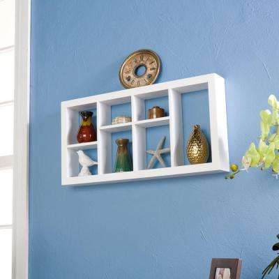 24 in. W Melvin Display Shelf in White