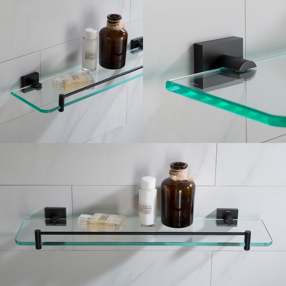 Kraus Ventus 20 In Bathroom Shelf In Matte Black Kea 17745mb The Home Depot