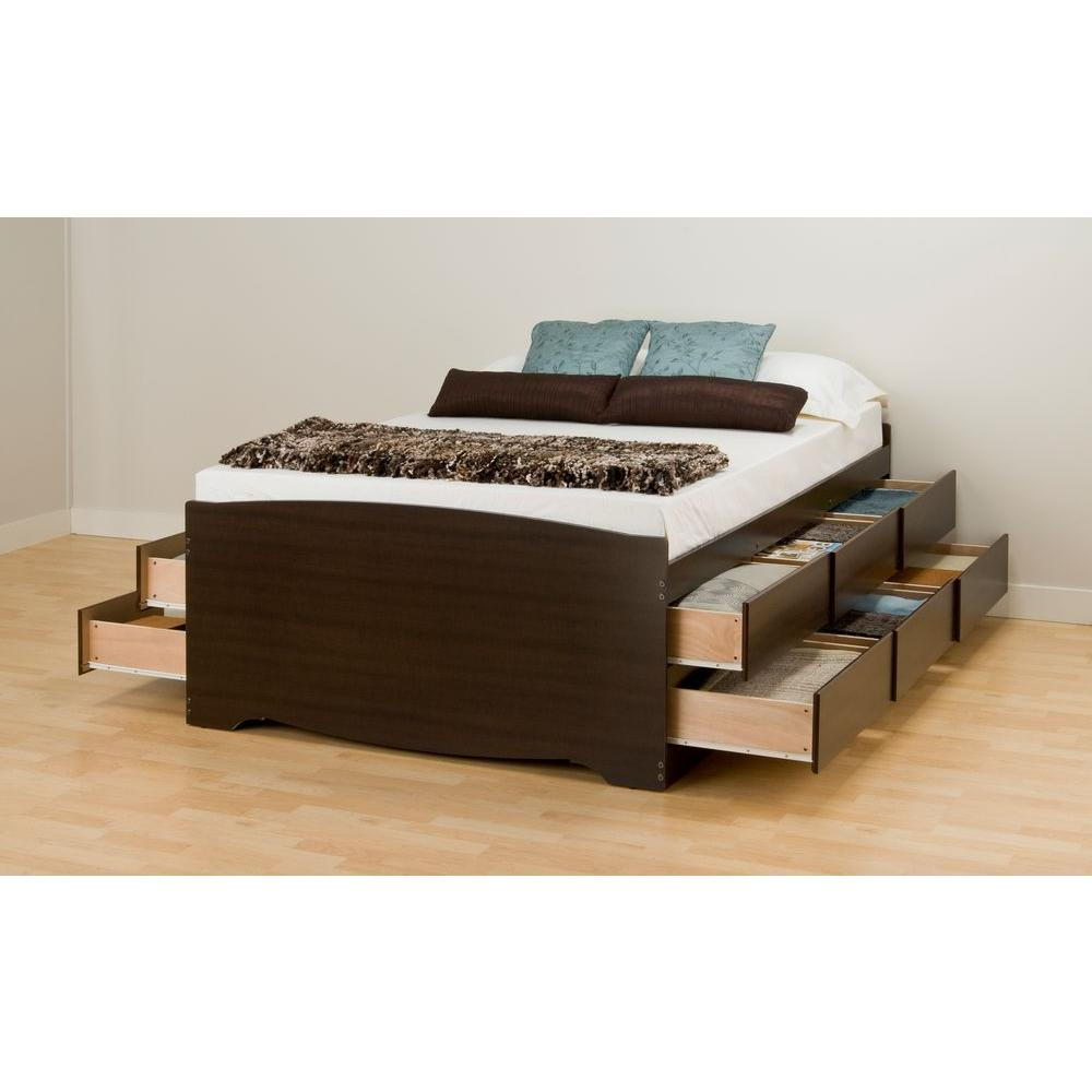 headboard storage likable bedroom frame humble bookcase size abode beds drawers solana with platform modern espresso queen plans