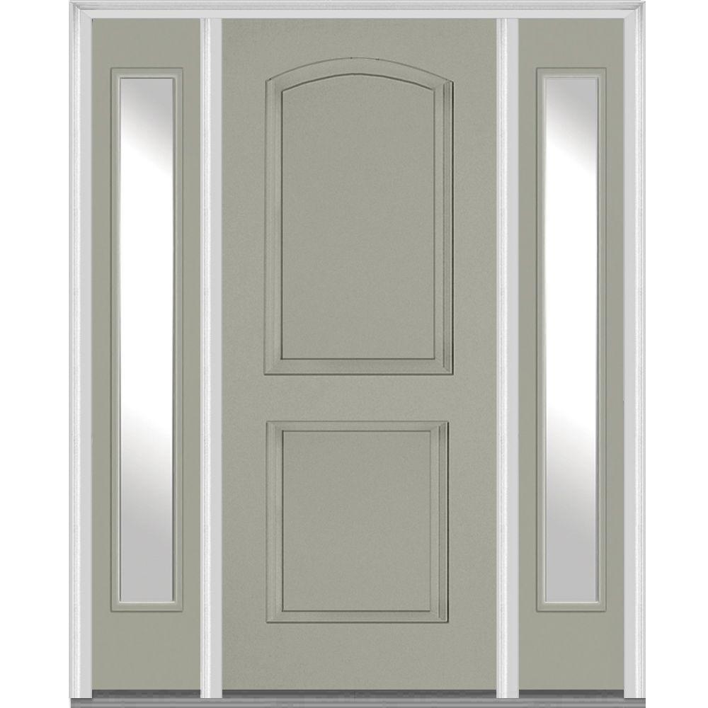 Mmi door 64 5 in x in 2 panel archtop painted for Door 95 100 doors 3