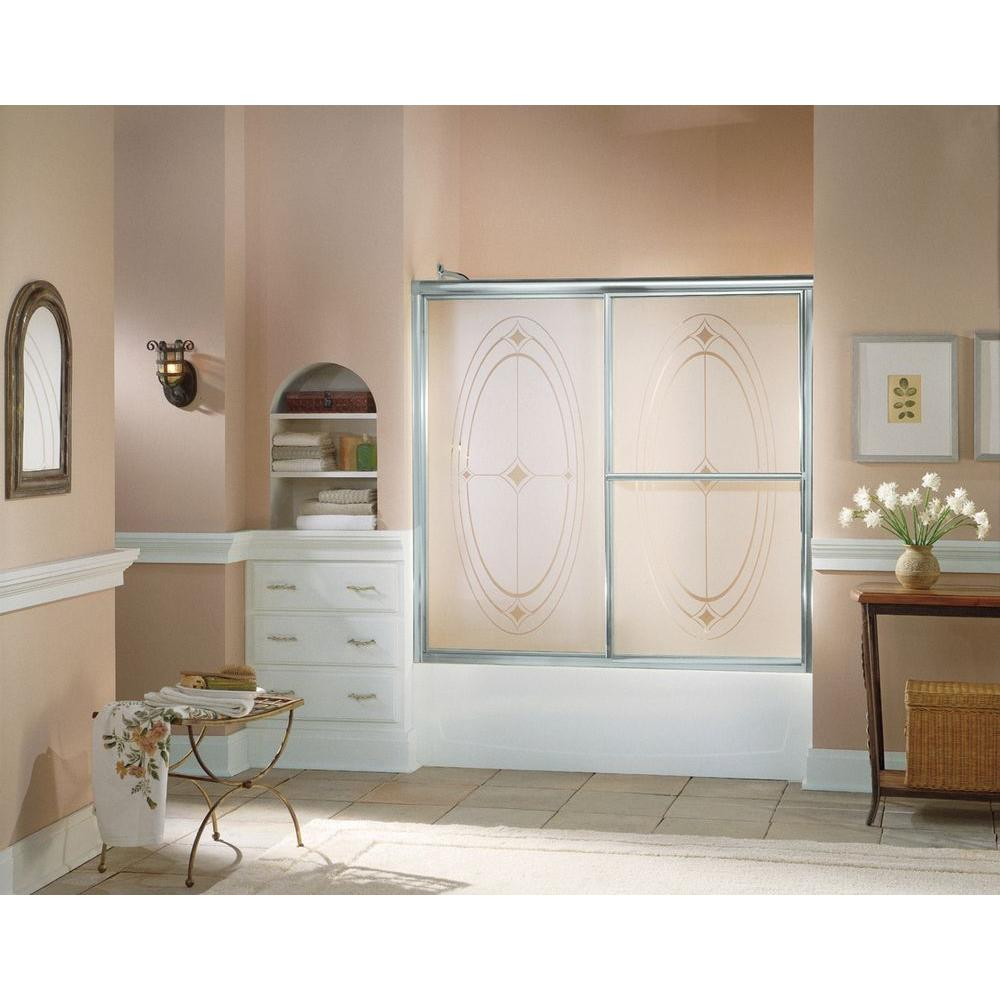 STERLING Deluxe 59-3/8 in. x 56-1/4 in. Framed Sliding Bathtub Door ...