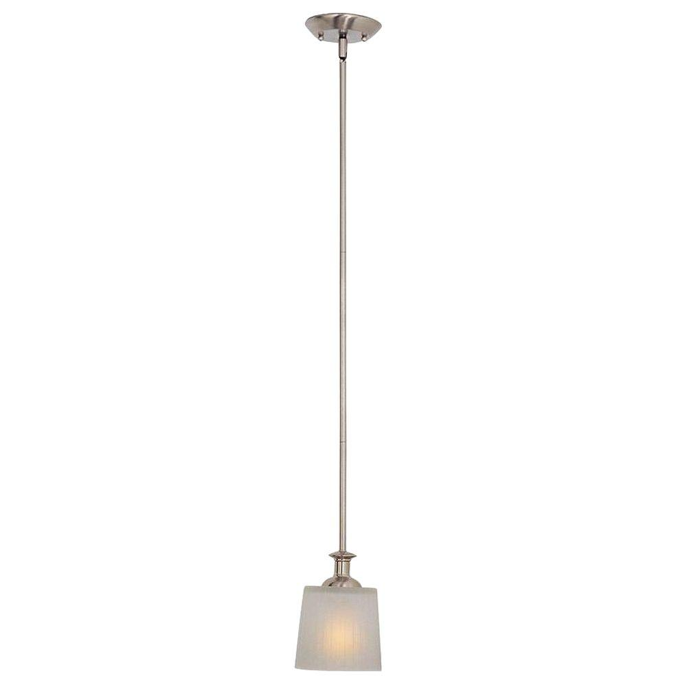 Finesse 1-Light Satin Nickel Mini Pendant